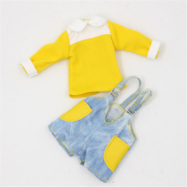 Neo Blythe Doll Jumpsuit Overall Yellow Dress