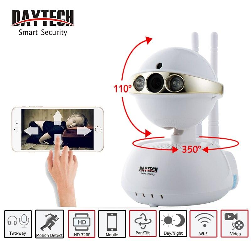 DAYTECH Wireless IP Camera WIFI Smart Surveillance Security Mini Baby Minitor 720P Night Vision Two Way