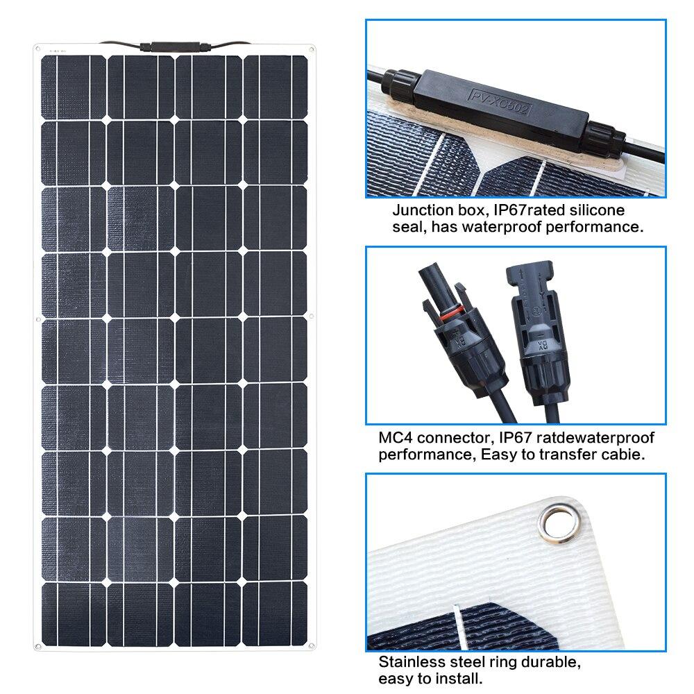 100W ETFE Flexible solar panel 5