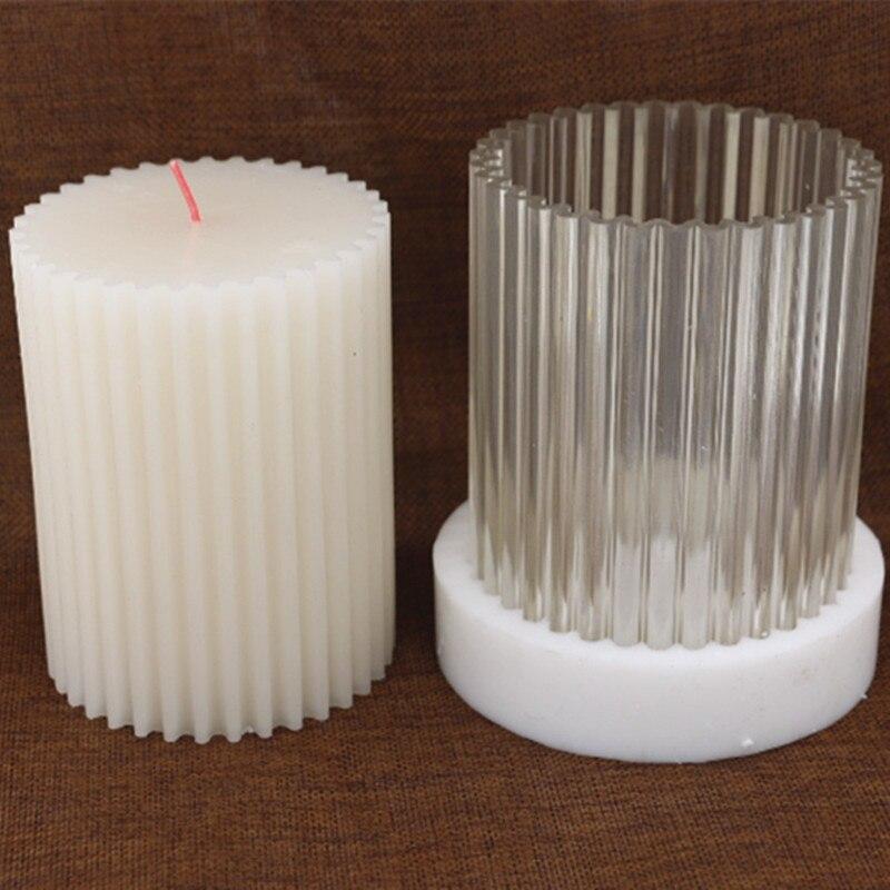 Cilíndrica bricolaje dientes gruesos vela que hace el modelo de la vela, alta temperatura resistente vela molde para DIY