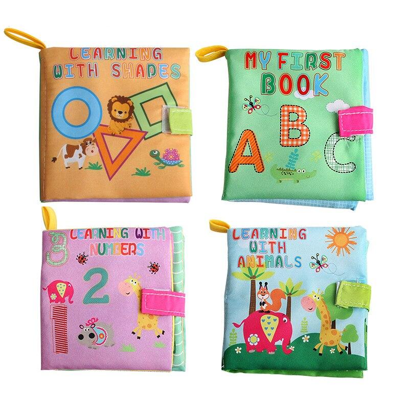 Bayi Mainan Bayi Pendidikan Awal Buku Kain Buku Latihan Nomor Alphabet  Hewan Bentuk Lembut untuk Anak 74488babaa