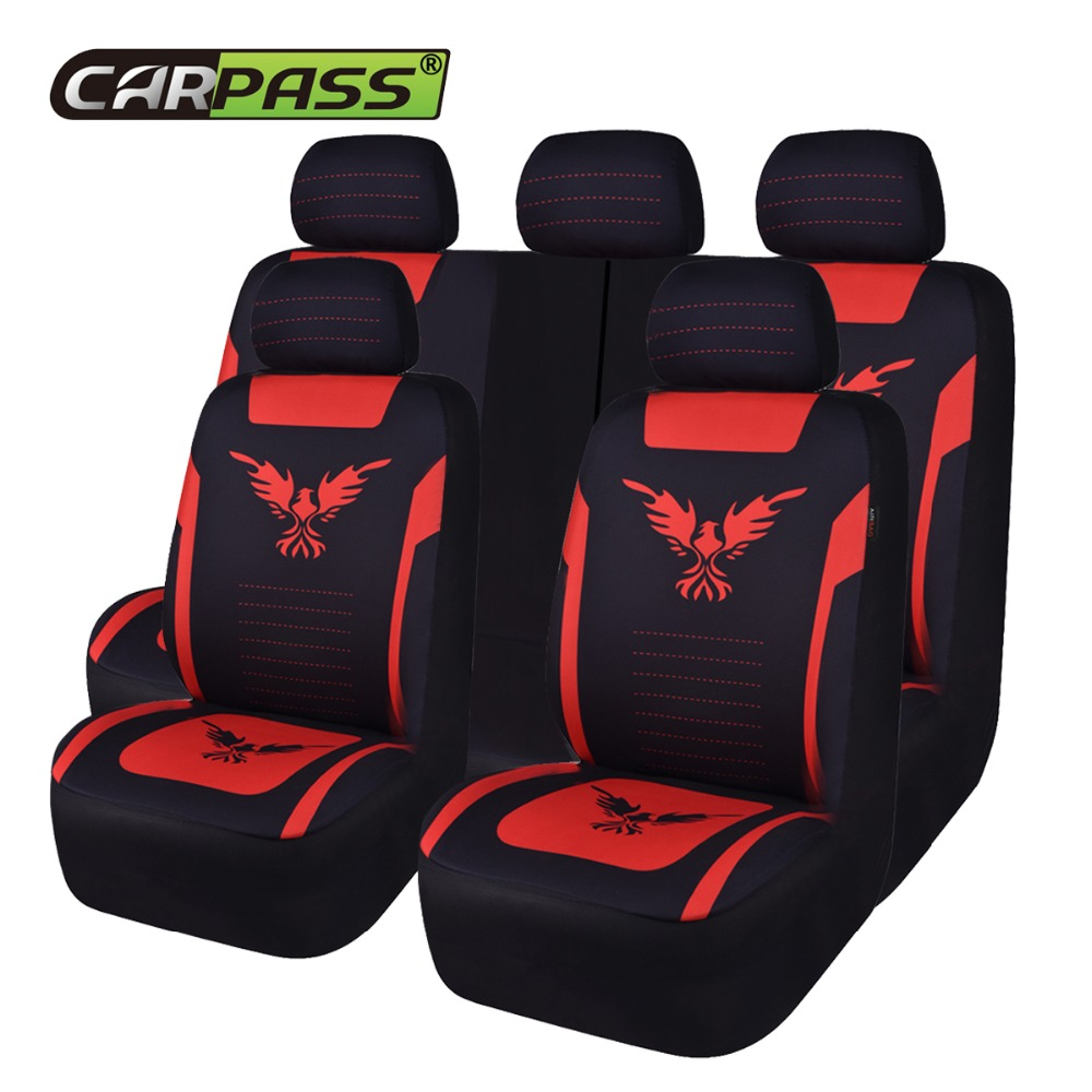 Car-pass Newest Flamingo Fashion Automobile Seat Covers Universal Car Styling Seat Cover Protector Interior Airbag Compatible