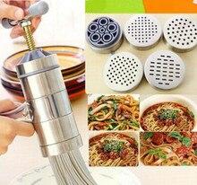 1PC Stainless Steel Noodle Maker With 5 Models Manual Noodles Press Pasta Machine Kitchen Tools Vegetable Fruit Juicer OK 0286
