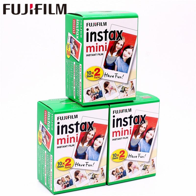 цена на Original Fuji Fujifilm Instax Mini 8 Film 60 pcs White Edge Photo Papers For 9 7s 8 90 25 55 Share SP-1 SP-2 Instant Camera