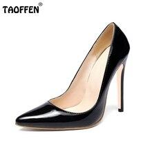 Grande taille 34-46 marque dames 12 cm minces chaussures à talons hauts sexy femmes qualité partie pompes mode bout pointu chaussures chaussures P22546