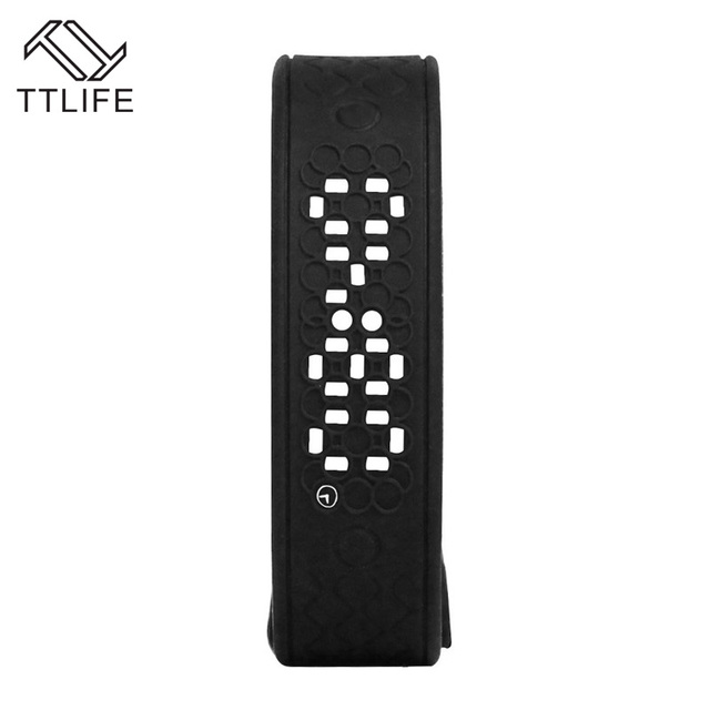 Moda Marca TTLIFE Inteligente Pulseiras Pulseira USB Relógio Monitor de Freqüência Cardíaca Inteligente LED Pulseira de Calorias Pedômetro 3D Em Tempo Real