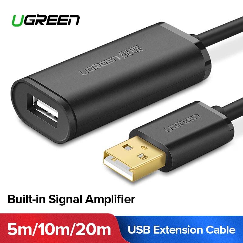 Ugreen USB Cavo di Estensione 5 m/10 m/20 m/30 m Maschio a Femmina USB 3.0 amplificatore di Segnale via cavo USB3.0 2.0 Extender Cavo di Estensione USB