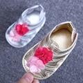 Мягкой Подошвой Детская Обувь Хлопок Впервые Ходунки Baby Girl Обувь Бабочка-узел Подошва Детская Обувь, bebe sapatos Размер 11,12, 13 см R9212
