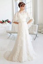 Free Shipping Charming Style Trumpet Sweep Train Made To Order Wedding Dresses China With Jacket WX11638