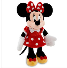 Original Minnie Mouse toy red Minnie plush toy 48cm stuffed animals Mickey Mouse girl friend Minnie toys for children