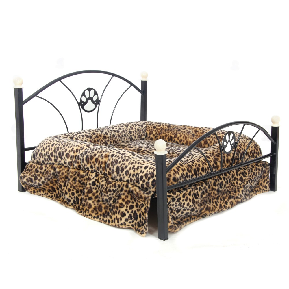 domestic delivery metal frame bed for dogs pets puppy luxury bed zebra and leopard bed for pet family warm dog bed princess - Cheap Metal Bed Frame