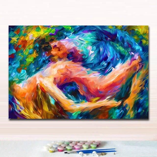 Diy Pinturas Para Colorear Fotos Por Los Números De