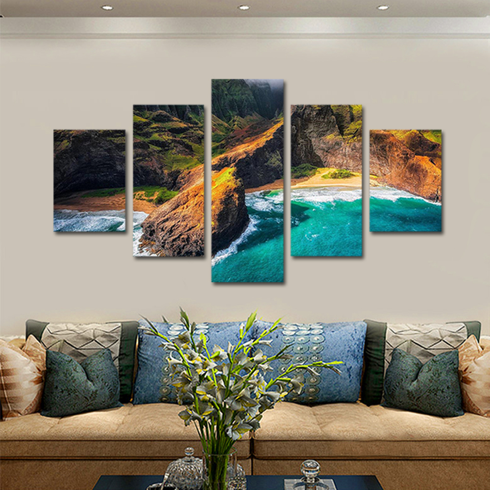 Unframed Canvas Painting Seascape Islands Beach Reef Beautiful Photo Prints Wall Pictures For Living Room Wall Art Decoration