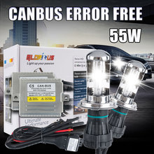 C5 55 Вт CANBUS bi xenon H4 Hid conversion Kit high/low H/L луч фары балласт лампы фар автомобиля