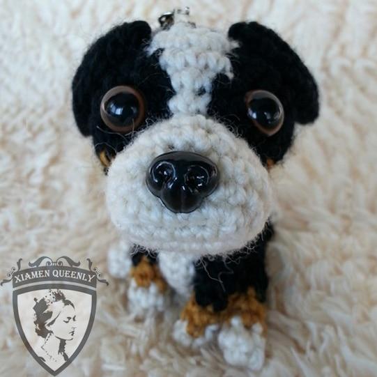 Plush Smile Dog Toys Bernese Mountain Dog Handmade Diy Dog Toy In