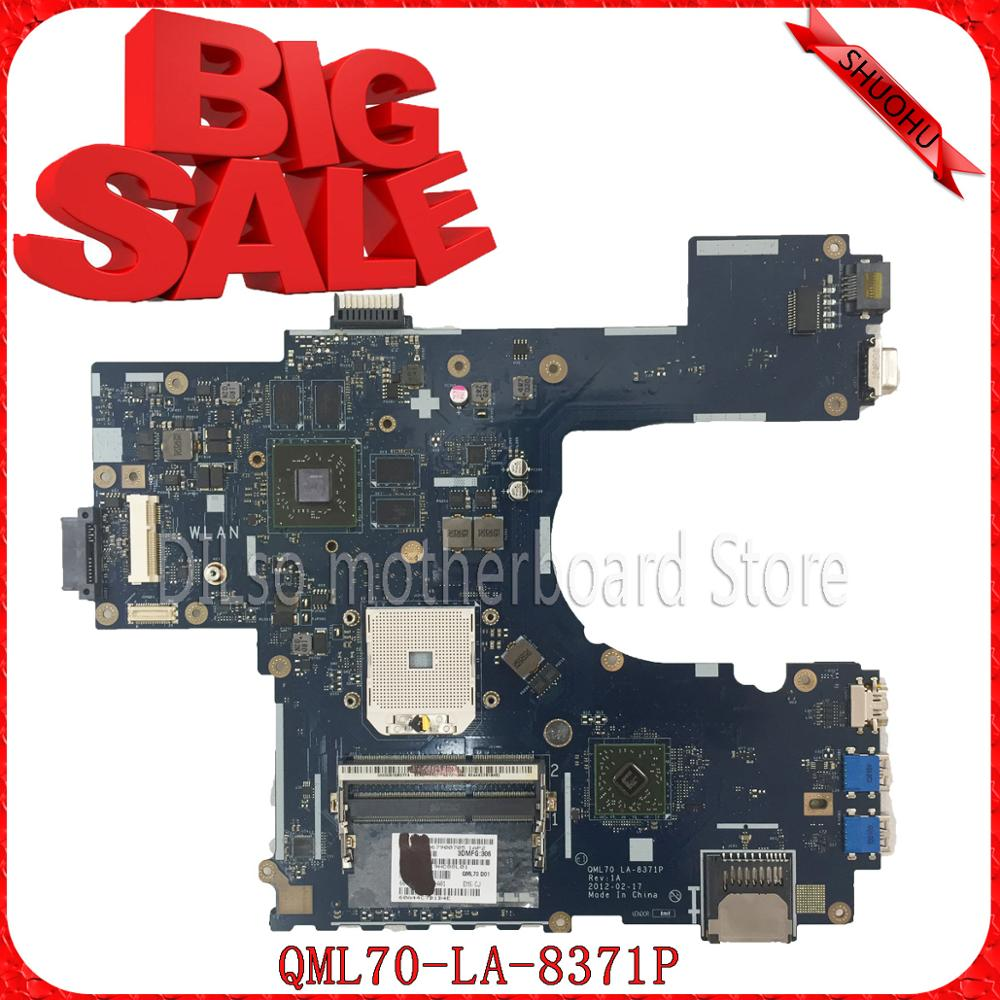 SHUOHU LA-8371P For ASUS K75DE motherboard Laptop mainboard QML70-LA8371P Rev:1A  100% tested motherboard k73ta for asus k73t x73t k73ta k73tk r73t latop motherboard rev 1a qbl70 la 7553p hd7670m 1gb mainboard 100% tested ok
