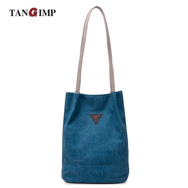 91135c538394e TANGIMP Designer Bucket Handbags Women Messenger Bag Canvas Vintage  Shoulder Bags Ladies Crossbody Bags Solid taschen Women