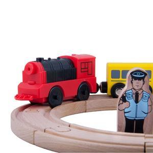 Image 3 - Combinación de accesorios de pista de madera para tren locomotor eléctrico magnético, Compatible con BRIO y la marca principal