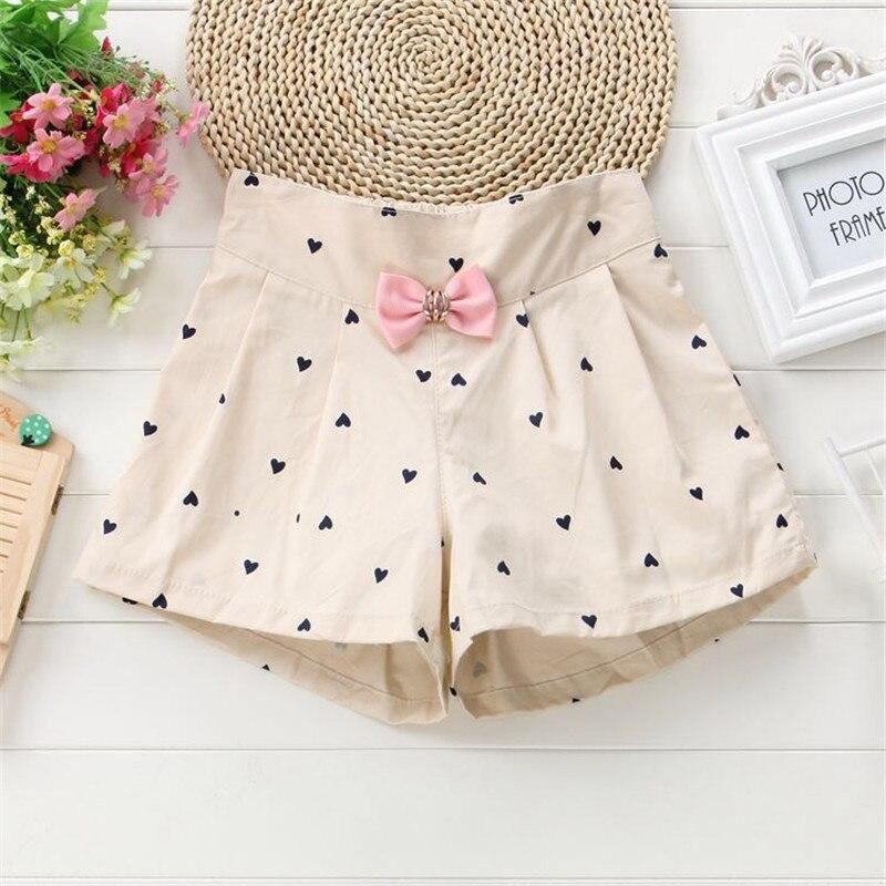 2019 Girls summer   short   pants new cotton cartoon bow   shorts   for children fashion casual pants girls kids sports   shorts   3-10Y