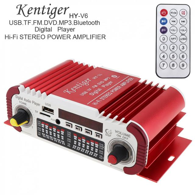 Special Price HIFI Bluetooth Digital Car Power Amplifier FM Radio Stereo Audio Player Support SD USB DVD MP3 Input for Auto Motorcycle Home