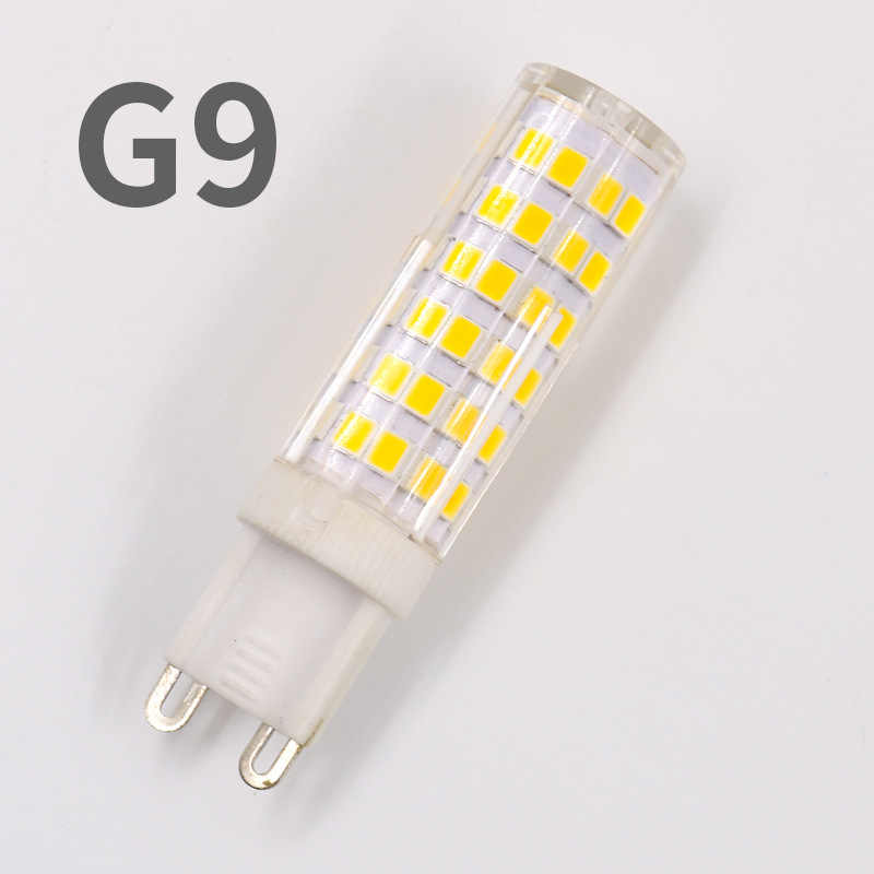 No Flicker Dimmable Ceramic LED G4 Light G9 Led Lamp 220V AC DC 12V LED G9 Bulb 3W 5W 7W 9W 10W 12W SMD2835 Spotlight Chandelier