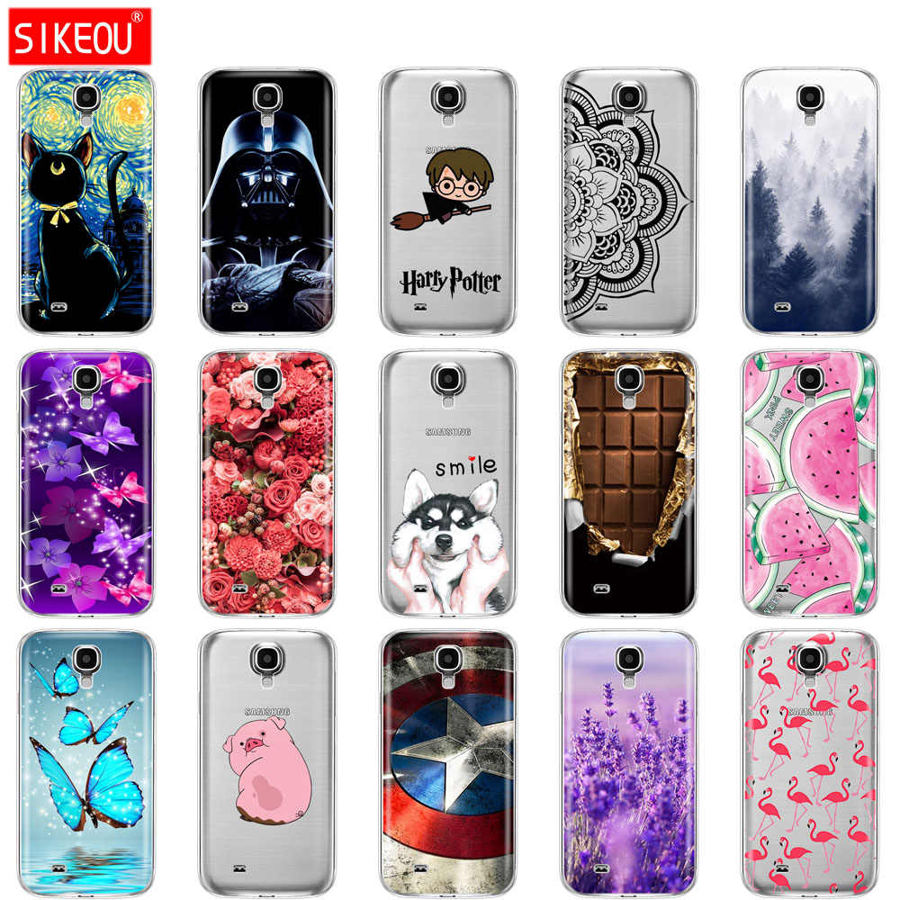 SIKEOU Silicone Case For Samsung Galaxy S4 i9500 Case Soft TPU Cover For Samsung S4 Phone shell Funda Hoesje Protective For S 4