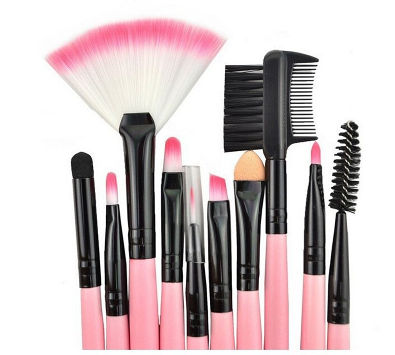 24 Pcs Makeup Brush Sets with Bag for Blending Foundation and Powder Suitable for Contouring and Highlighting 18