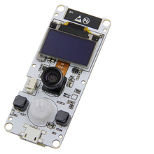 TTGO cámara con lente angular de ojo de pez, módulo de cámara WROVER y PSRAM, ESP32 WROVER B, OV2640, OLED, 0,96