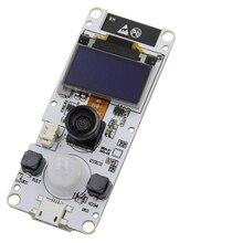 Ttgo t camera esp32 peixe olho lente grande angular câmera wrover & psram módulo de câmera ESP32 WROVER B ov2640 módulo de câmera 0.96 oled