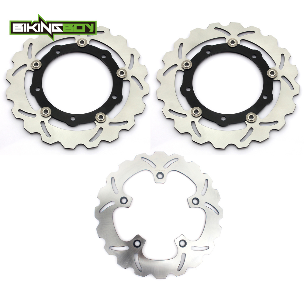 BIKINGBOY Motorcycle Full Set Front Rear Brake Disk Disc Rotor for YAMAHA XP TMAX530 TMAX T-MAX 530 IRON LUX/ABS 12-17 16 15 14 keoghs real adelin 260mm floating brake disc high quality for yamaha scooter cygnus modify