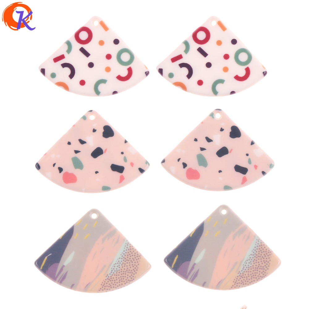 Cordial Design 29*40mm 50Pcs Jewelry Accessories/Earring Part/Sector Shape/Printing Effect/DIY Making/Hand Made/Jewelry Findings