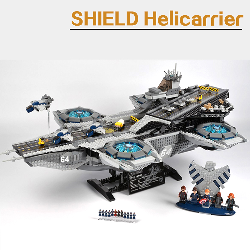 LEPIN 07043 Super Heroes The Shield Helicarrier Avengers Model Building Blocks Kits Bricks font b Toys