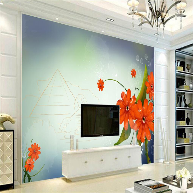 Custom Wallpaper 3d Chrysanthemum Mural Photo Wallpaper Embossed Non-Woven TV Background Study Kitchen Wall Mural Wallpaper free shipping hepburn classic black and white photographs women s clothing store cafe background mural non woven wallpaper