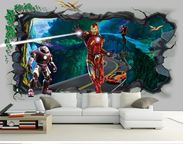 Free shipping 3d cartoon game wallpaper ktv hotel for 3d decoration games