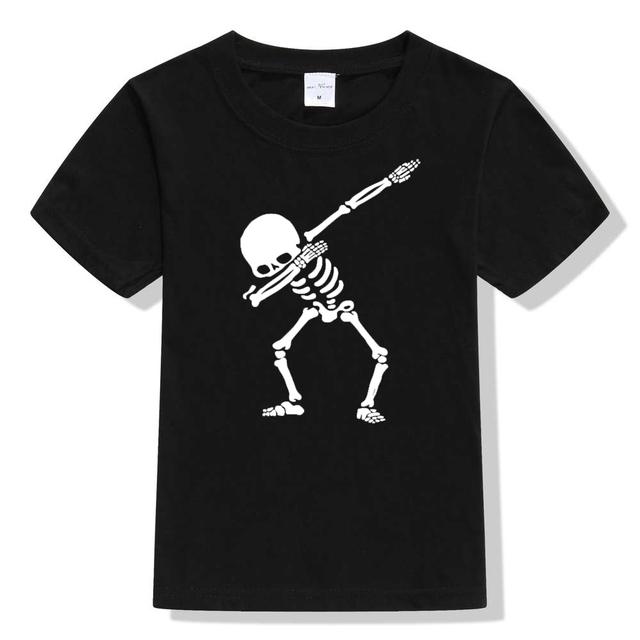 Boy's Hip Hop Funny Skeleton Cotton T-Shirt