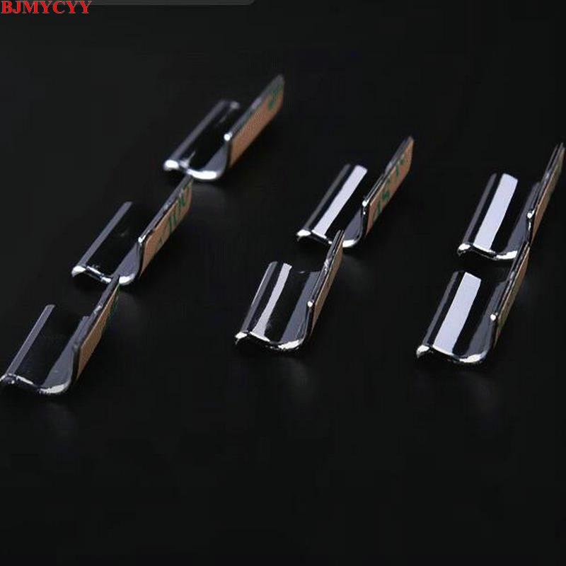 BJMYCYY наклеиваемого покрытия для автостайлинга из ABS 7 шт./компл. автомобильный стеклоподъемник кнопки украсить блестками для peugeot 308 308s T9- автомобильные аксессуары - Название цвета: Серебристый