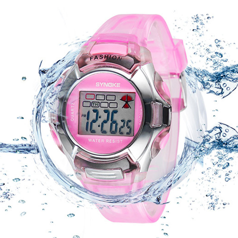 Fashion Kids LED Digital Watch Sports Kid Watches Boy Girl Wristwatches Waterproof Children Relogios Rubber Band Electronic Saat