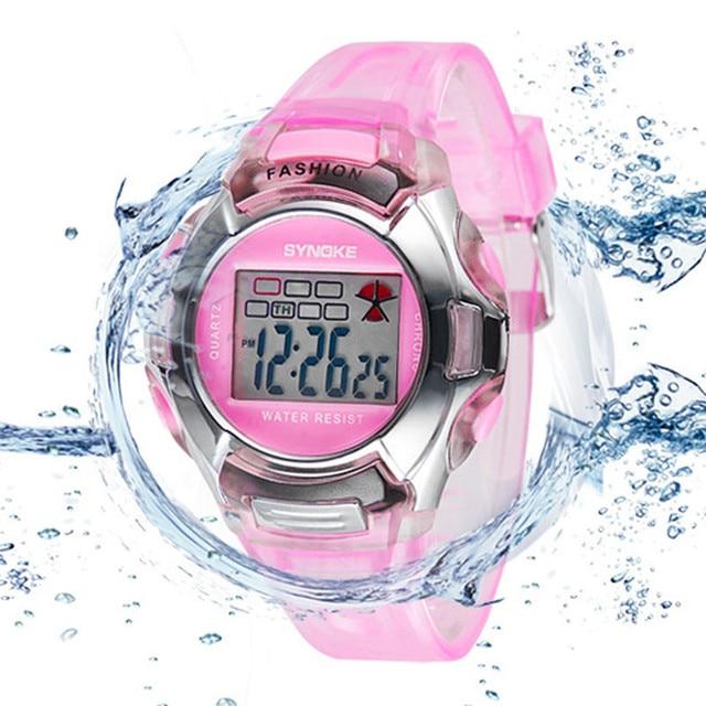 Fashion Kids LED Digital Watch Sports Kid Watches Boy Girl Wristwatches Waterpro