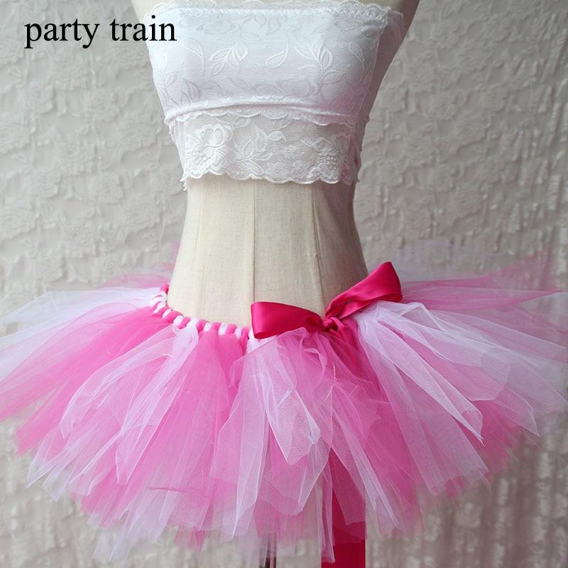 Tulle Tutu Skjørt Sexy Mini Fancy Voksen Petticoat Fluffy Mesh - Kvinneklær