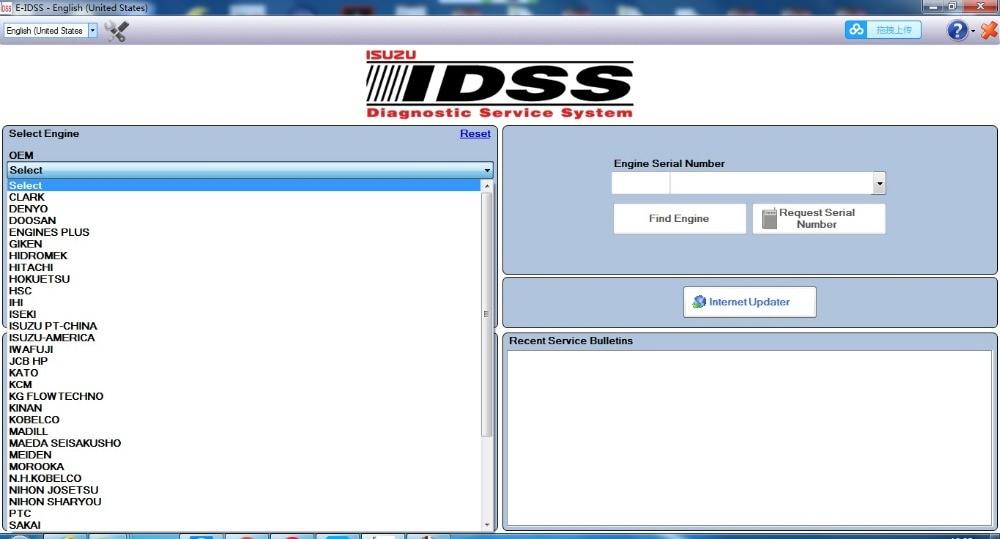 For Isuzu E IDSS Engineering Release 2018 Isuzu Diagnostic Service System supports NEXIQ DPA5 MDI