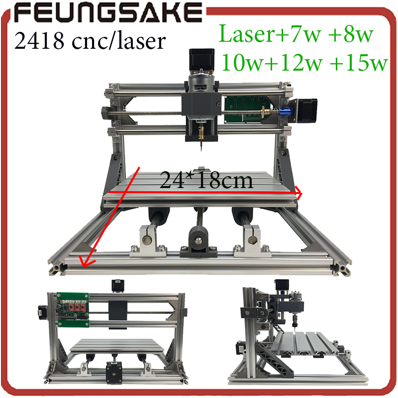 laser Wood Carving machine, 2418 cnc router engraving machine,3 axis diy mini router,Pcb Milling Machine,GRBL controller arduino 4axis cnc router 3040z vfd800w engraving machine cnc carving machine cnc frame assembled