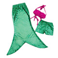 Fashion girl summer clothes 3 pices swimwear girl children mermaid swim tail costumes kids set
