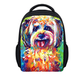 FORUDESIGNS 12 Inch Schoolbags for Children,Small Cute Dog Printing Girls Bookbag,Mini School Backpack for Baby Kids School Bags