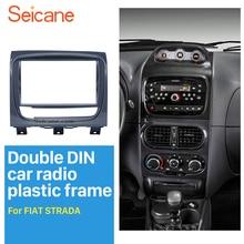 ซีเทอร์ UV สีเทาคู่ Din วิทยุรถยนต์สำหรับ FIAT STRADA DVD แผงติดตั้งเครื่องเสียงรถยนต์กรอบ
