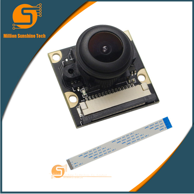 New CSI Mini Camera Module 5MP 160 Degree Night Version Webcam Support 1080p 720p Video With FFC Cable For Raspberry Pi 3 /2