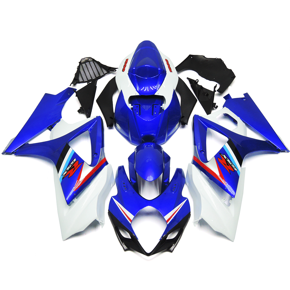 Fairings For Suzuki GSXR1000 GSX-R 1000 K7 07 08 2007 2008 Injection ABS Plastic Motorcycle Motorbike Fairing Kit Blue White