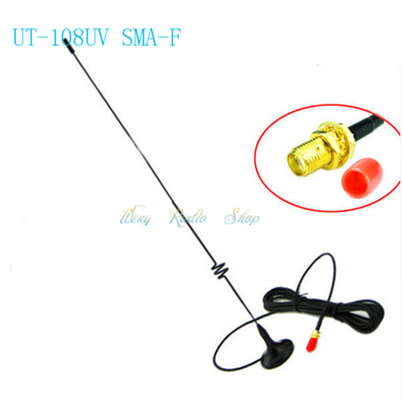 Antenne UT-108UV talkie walkie accessoires DIAMANT SMA-Femelle 51 CM pour Portable Radio Baofeng UV-5R BF-888S UV-5RA UV-82 UV-5RE