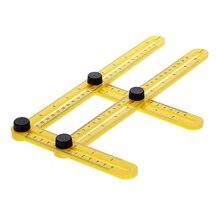 Angle Ruler Adjustable Measuring Instrument Multifunctional Magic Ruler hand Tools Multi Angle Template folding sliding D1009