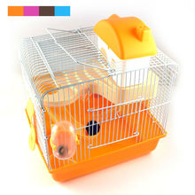 New Hot Sales high quality plastic multi – colored castle heightening pet hamster cage hamster villa for free shipping