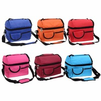 New Insulation Bags Canvas 8L Square Insulation Bags Thermal Bag Baby Feeding Food Water Storage Bag
